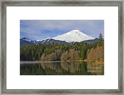 Framed Print featuring the photograph Baker Lake by Jack Moskovita