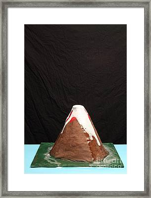 Baking Soda Volcano 4 Of 4 Framed Print by Ted Kinsman