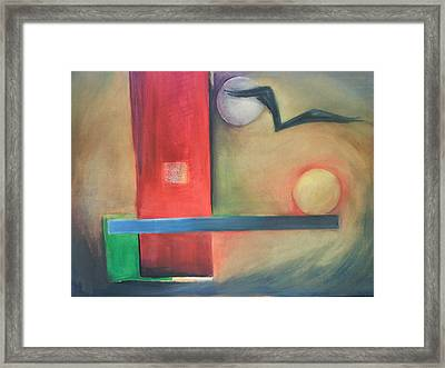 Framed Print featuring the painting Balance by Jan Swaren