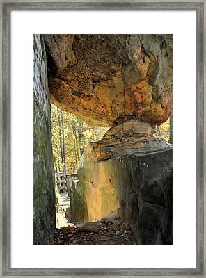 Balanced Rock Framed Print by Marty Koch