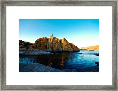 Balancing Act Framed Print by Zee Helmick