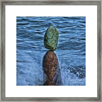 Balancing Framed Print
