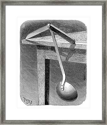Balancing Demonstration Framed Print by