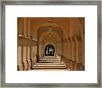 Balboa Passageway Framed Print by Frank Wickham
