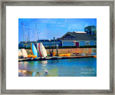 Balboa Surfboards Framed Print by Kevin Moore