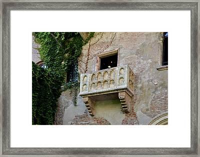 Balcone Di Romeo E Giulietta Framed Print by Martina Fagan