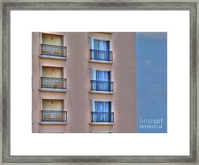 Balconies Framed Print by Jimmy Ostgard