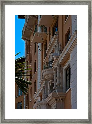 Framed Print featuring the photograph Balcony At The Biltmore Hotel by Ed Gleichman