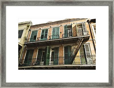 Balcony Framed Print by Leslie Leda