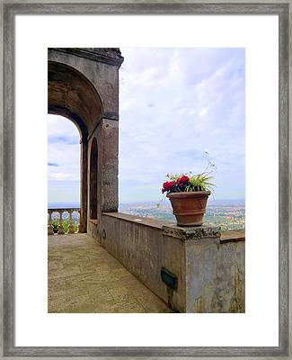 Balcony To Rome Framed Print by Mindy Newman