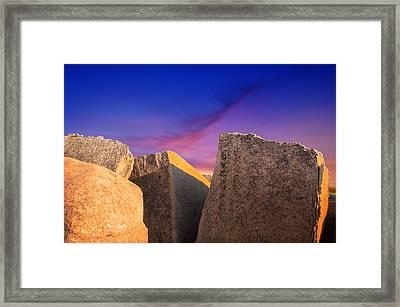 Bald Rock Afternoon Glow Framed Print