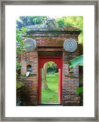 Bali Gate Framed Print by Michelle Matisse