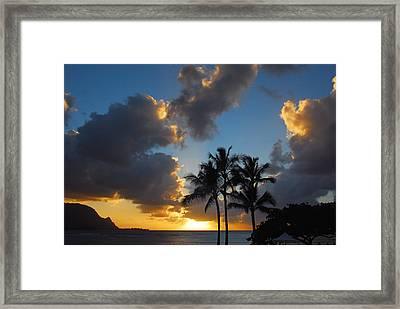 Framed Print featuring the photograph Bali Hai Sunset by Lynn Bauer