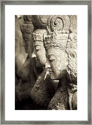 Bali, Indonesia, Asia Stone Statues Framed Print by Keith Levit