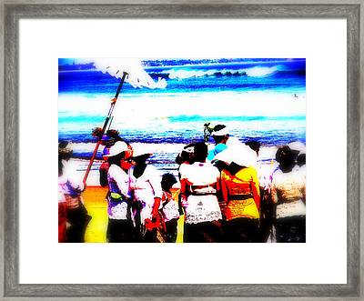 Balinese Beach Funeral  Framed Print by Funkpix Photo Hunter