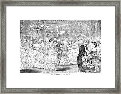 Ball, 1858 Framed Print