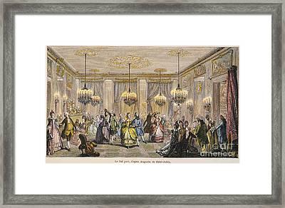 Ball, 18th Century Framed Print by Granger