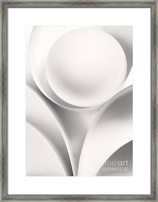 Ball And Curves 01 Framed Print by Nailia Schwarz