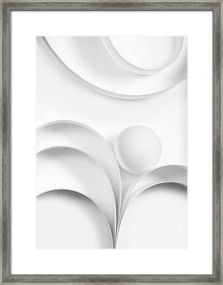 Ball And Curves 02 Framed Print by Nailia Schwarz