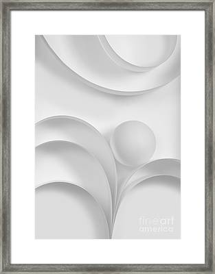 Ball And Curves 03 Framed Print by Nailia Schwarz
