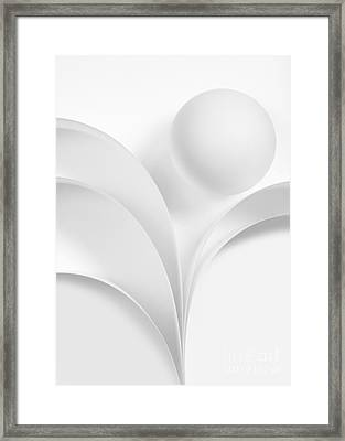 Ball And Curves 06 Framed Print by Nailia Schwarz