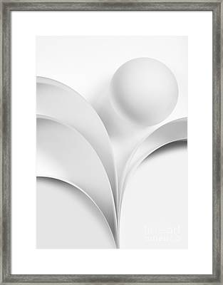 Ball And Curves 07 Framed Print by Nailia Schwarz
