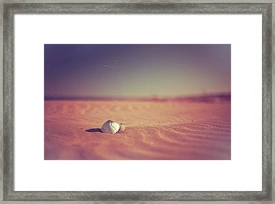Ball At Beach Framed Print