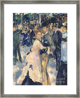 Ball At The Moulin De La Galette Framed Print