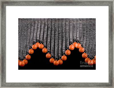 Ball Bouncing On A Spring Framed Print by Ted Kinsman