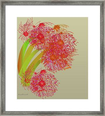 Framed Print featuring the digital art Ball Of Fire by Asok Mukhopadhyay