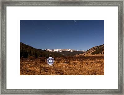 Ball Of Light Geneva Creek Valley Framed Print by Richard Steinberger