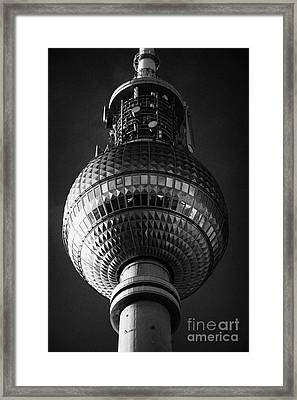 ball of the berliner fernsehturm Berlin TV tower symbol of east berlin Germany Framed Print