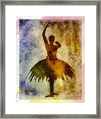 Ballerina 1 With Border Framed Print