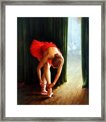 Ballerina 2 Framed Print by Yoo Choong Yeul
