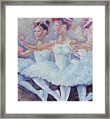 Framed Print featuring the painting Ballerina Dance by Rita Brown
