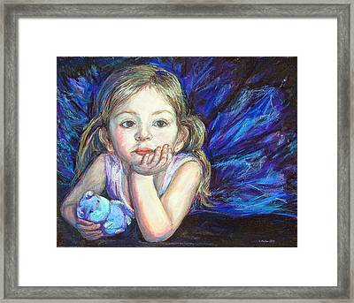 Ballerina Dreams Framed Print by Li Newton