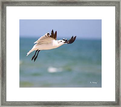 Ballerina Performing A Grand Jete Framed Print