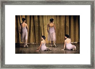 Ballerinas Framed Print by Ercole Gaudioso
