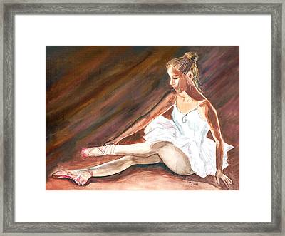 Framed Print featuring the painting Ballet Dancer by Clara Sue Beym