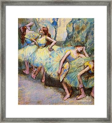 Ballet Dancers In The Wings Framed Print by Pg Reproductions