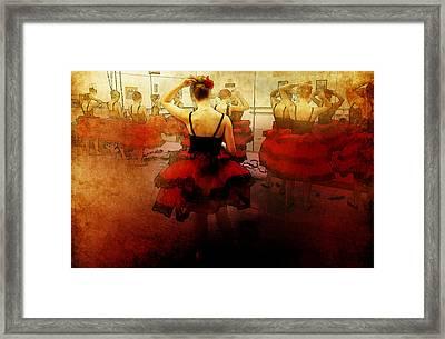 Ballet Dress Rehearsal Framed Print by Chris Modarelli