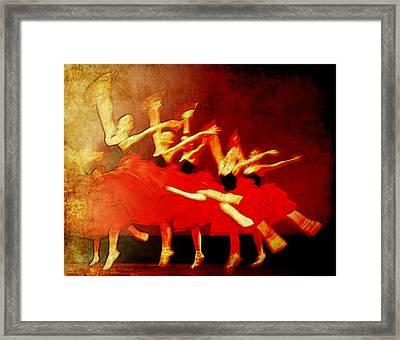 Ballet In Red Framed Print by Chris Modarelli
