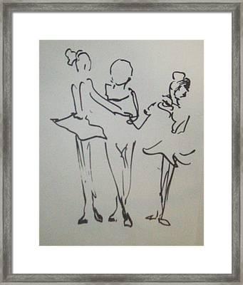 Ballet In The Park Framed Print by James Christiansen