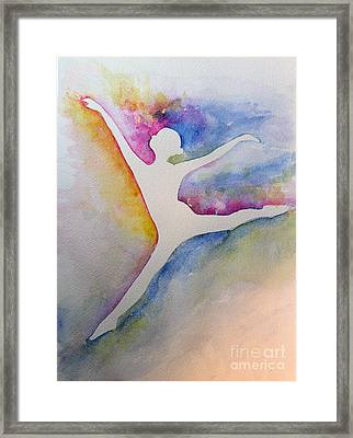 Ballet Leap 1 Framed Print by Carolyn Weir