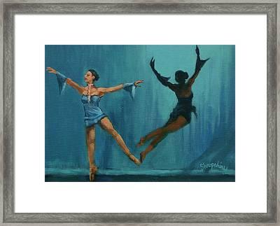 Ballet Leap Framed Print by Tom Shropshire