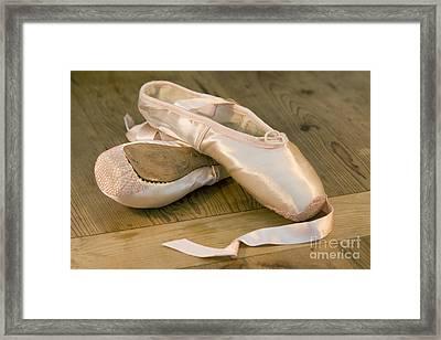 Ballet Shoes Framed Print by Jane Rix