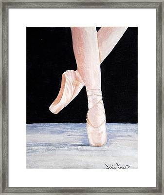 Ballet Shoes Framed Print by Julie Kraft