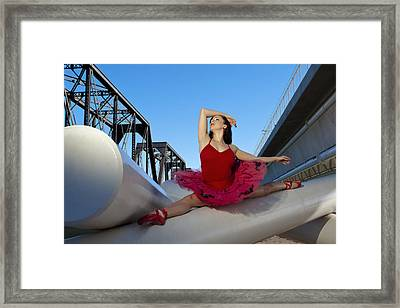 Ballet Splits Framed Print by Michael Yeager