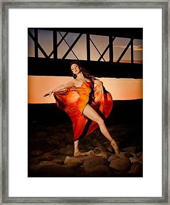 Ballet Sunset Framed Print