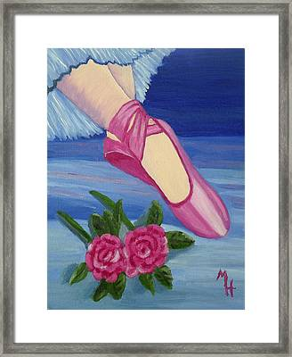 Ballet Toe Shoes For Madison Framed Print